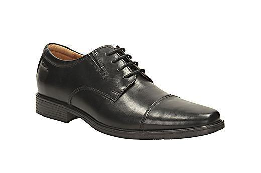 CLARKS zapatos TILDEN CAP negro LEATHER
