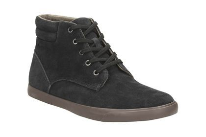 CLARKS chaussures TORBAY TOP noir SUEDE