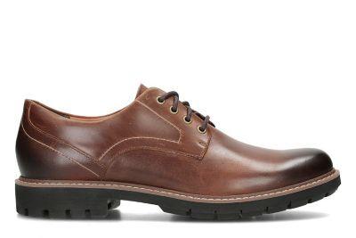 CLARKS chaussures BATCOMBE HALL DARK TAN cuir