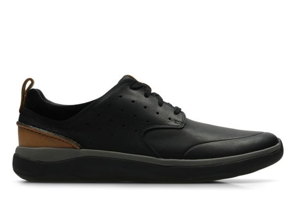 CLARKS zapatos GARRATT LACE negro LEATHER
