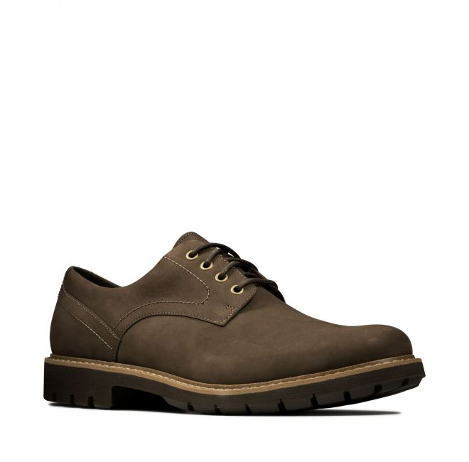 CLARKS chaussures BATCOMBE HALL DARK marron NUBUCK